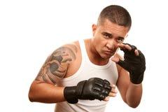 man för boxninghandskelatinamerikan arkivfoton