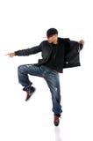 man för danshöftflygtur arkivfoto
