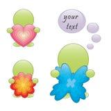 man för hjärta för fjärilsblommagreen Royaltyfri Bild