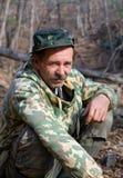 man för kamouflage 11 Arkivbilder