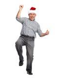 Man för lycklig jul. Arkivbild