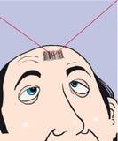 man för stångkod royaltyfri illustrationer