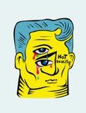 Man face vector illustration