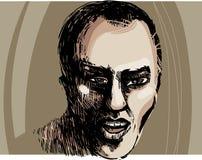 Man face artistic drawing illustration Stock Photo