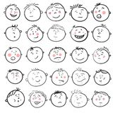 Man face cartoon set Royalty Free Stock Photos