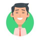 Man Face Emotive Vector Icon in Flat Style Stock Photos