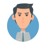 Man Face Emotive Vector Icon in Flat Style Royalty Free Stock Photos