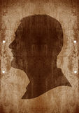 Man face on grunge background vector illustration
