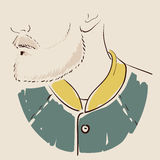 Man face hand drawn. Portrait of a young handsome man. Vector. Illustration stock illustration