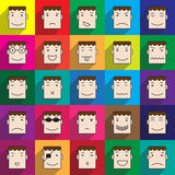 Man face icon in multi color windows Royalty Free Stock Images