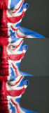 Man face painted flag United Kingdom Stock Image