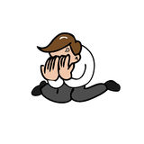 Man face palm Stock Images
