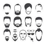 Man face set Royalty Free Stock Images
