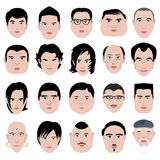 Man face shape hairstyle round fat thin old Royalty Free Stock Photos