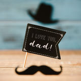 Man face and text I love you dad Royalty Free Stock Images