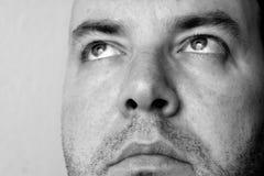 Man, Face, Thoughtful, 3-Day-Bart Stock Photo