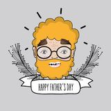Man face to celebrate father day design. Vector llustration Royalty Free Stock Photography