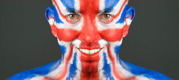 Man face United Kingdom Royalty Free Stock Photography
