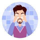Man Face Wash. Washing, Shaving, Moisturizing Stock Images