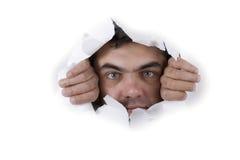 Man face on white background Royalty Free Stock Photo