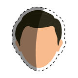 Man faceless head Royalty Free Stock Images