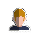 Man faceless profile Royalty Free Stock Photography