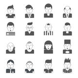 Man Faces Icons Royalty Free Stock Photos