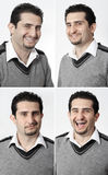 Man facial expression. Royalty Free Stock Photo