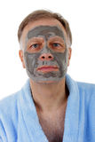 Man with facial mask. Royalty Free Stock Photo