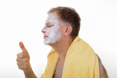 Man with facial mask Royalty Free Stock Image