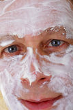 Man with facial mask Royalty Free Stock Images