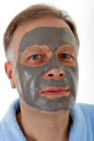 Man with facial mask Stock Photo