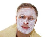Man with facial mask Royalty Free Stock Photos