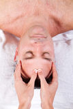 Man facial massage Royalty Free Stock Photos