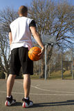Basketball Man vs Hoop Royalty Free Stock Photo
