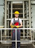 Man on a factory Royalty Free Stock Photography