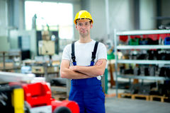 Man in a factory Stock Image