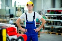 Man in a factory Stock Images