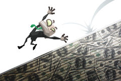 Man fall of money Stock Photography