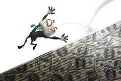 Man fall of money Stock Photography