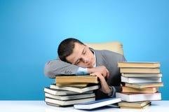 Man falling asleep Stock Photos
