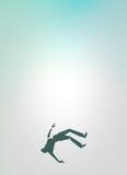 Man Falling Design. A Conceptual Design Of A Man Falling Stock Photos