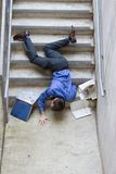 Man Falling Down Stairs Royalty Free Stock Photos