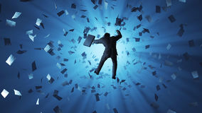 Man falling into the hole. Businessman falling into the hole Royalty Free Stock Image