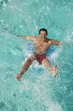 Man Falling Into Swimming Pool Royalty Free Stock Image