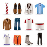 Man Fashion And Clothes Icons Stock Images