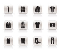 Man Fashion And Clothes Icons Stock Photo
