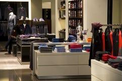 Man fashion clothing store stock photos