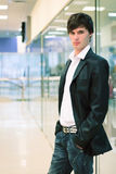 Man in fashion shop Stock Photo