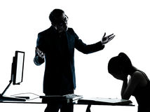 Man father teacher student girl teenager homework Stock Images